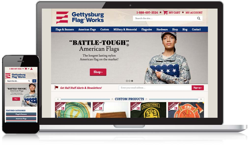 Gettysburg Flag Works Responsive Web Design