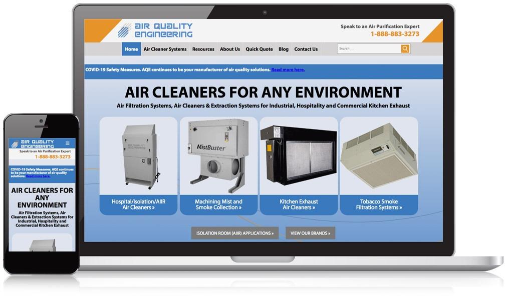 Responsive Image of Air Quality Enginneering Website