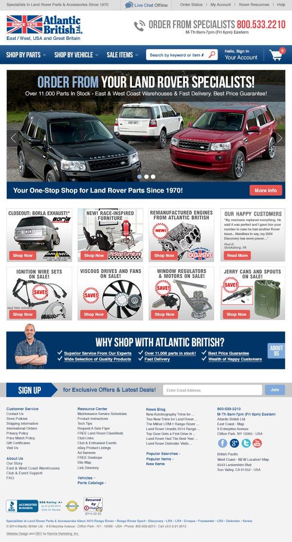 Atlantic British Website Design