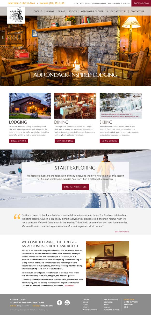 Garnet Hill Responsive Website Design