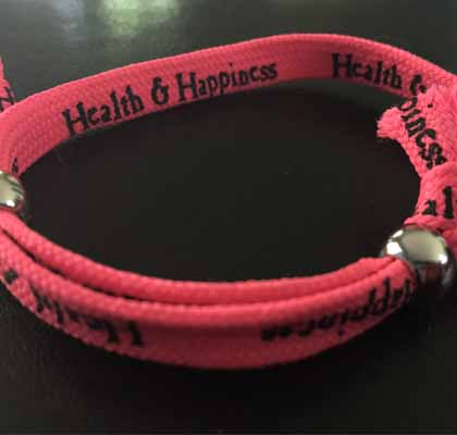 photo of the health and happiness wristband