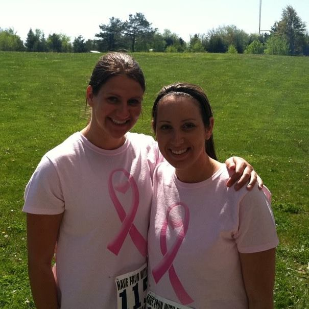 Amberly runs for Breast Cancer Awareness