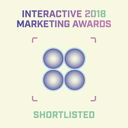 Interactive 2018 Marketing Awards - Shortlisted Award Badge