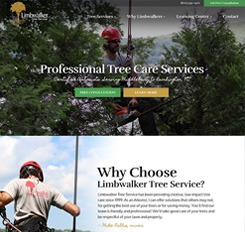 Image of Limbwalkers Tree Service website