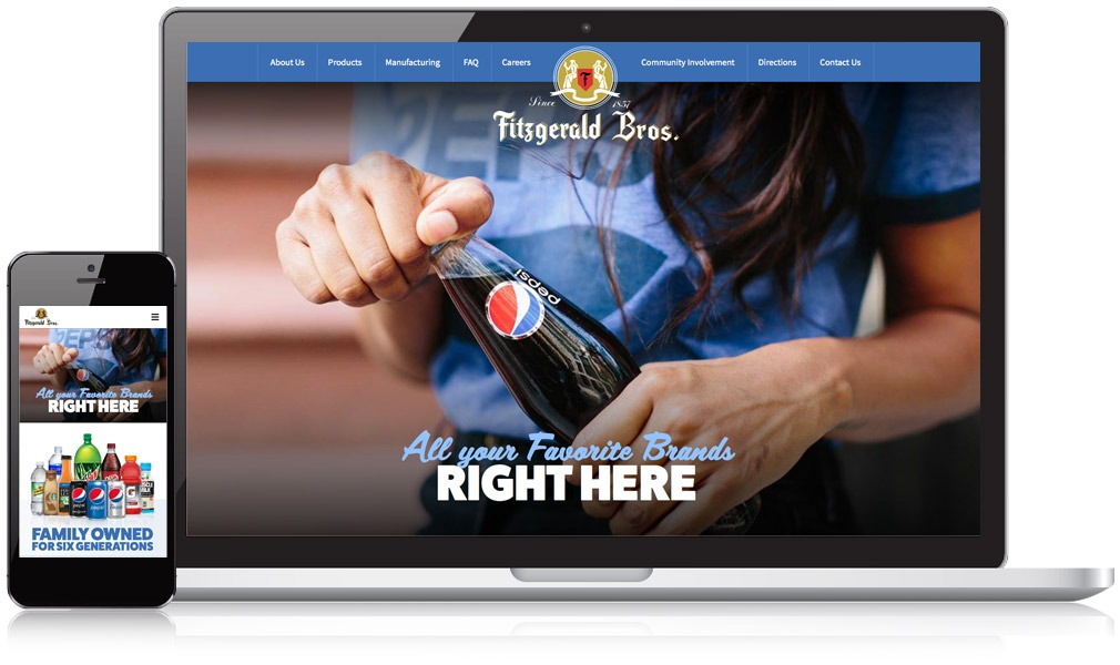 Screenshot of Fitzgerald Bros. responsive website