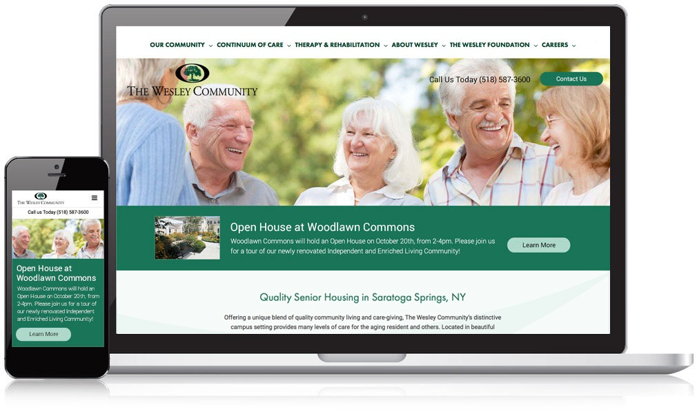 Wesley Community Website Design