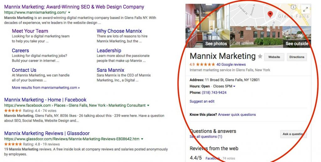 Mannix Marketing Google My Business Listing