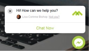 Live Chat dialogue box