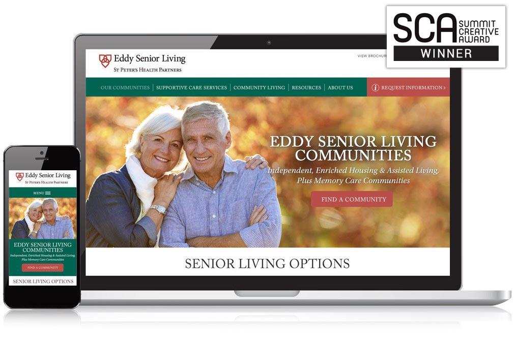 Eddy Senior Living Website Design - Summit Creative Award Winner