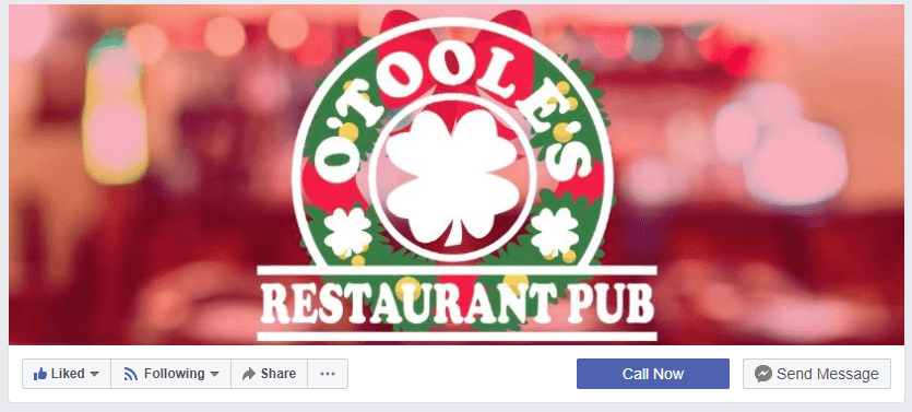 Facebook business page cover photo example