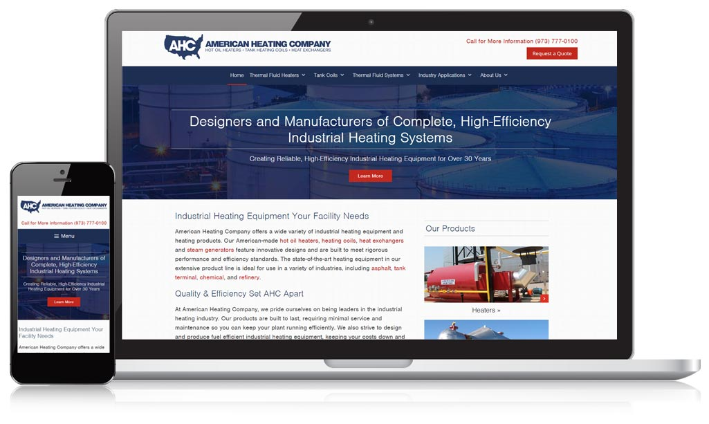 American Heating Responsive Website Design