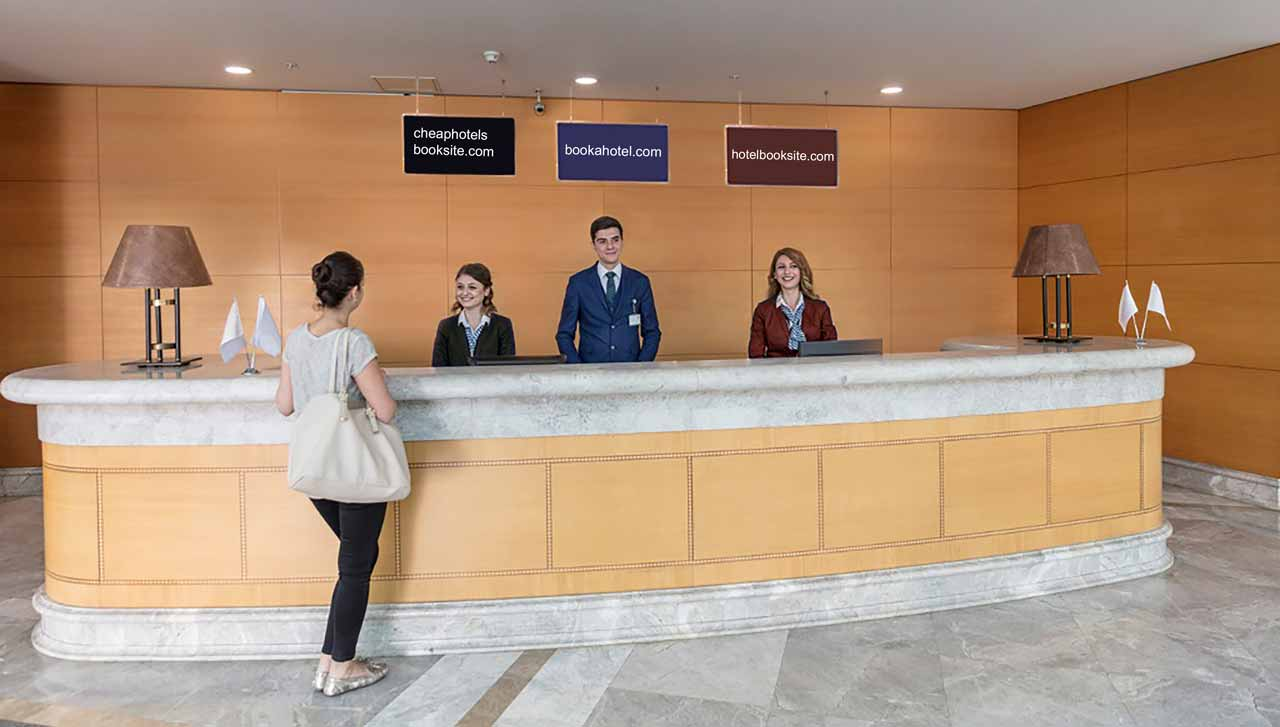 Hotel check-in desk