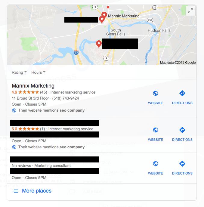 Google My Business Maps Screen Shot