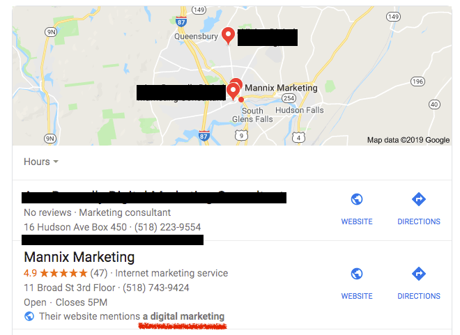 Website Rich Snippet on Google My Business Profile