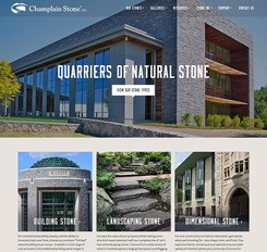 Champlain Stone website homepage