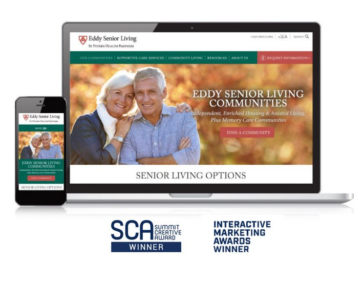 Eddy Senior Living Website - Summit Creative Award and Interactive Marketing Awards Winner