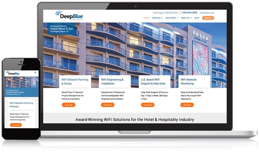Deep Blue Communications on mobile and desktop