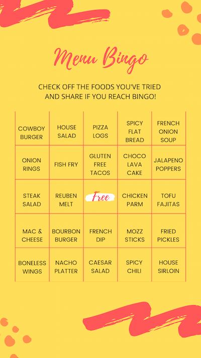 Menu Bingo
