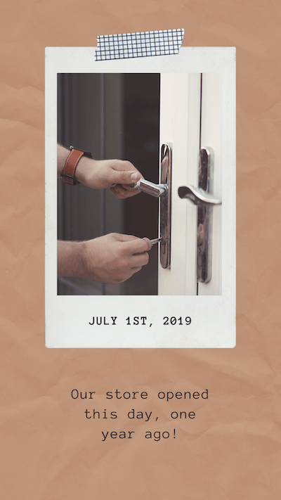 July 1st, 2019. Our store opened this day, one year ago!