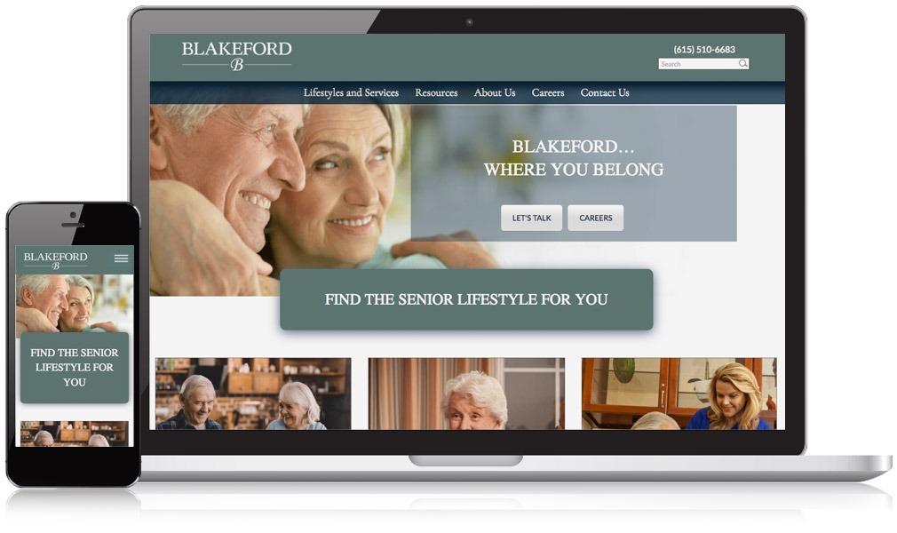 Responsive Image of Blakeford's Website