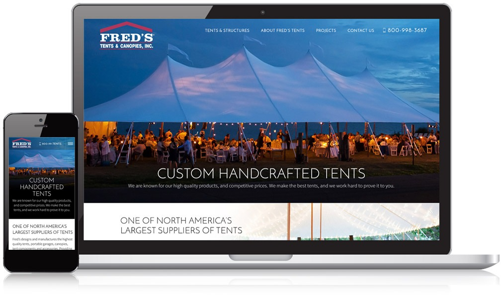 Responsive Image of Fred's Tents Website