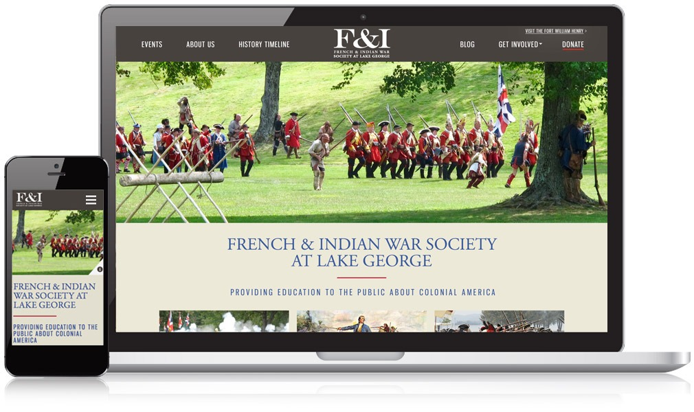 French and Indian War Society Responsive Website Design