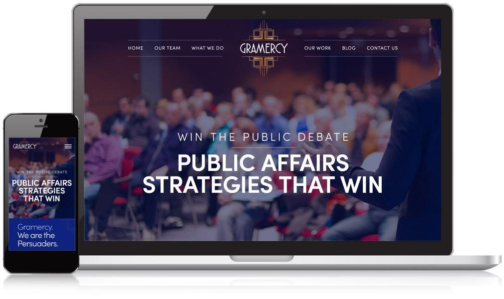Responsive Website Image of Gramercy's Website