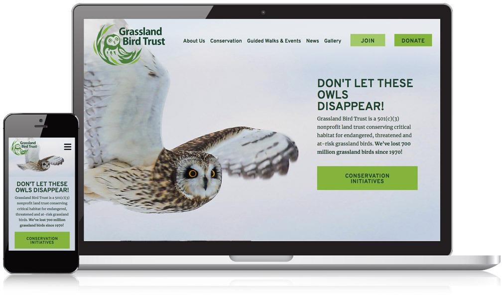Responsive Image of Grassland Bird Trust's Website