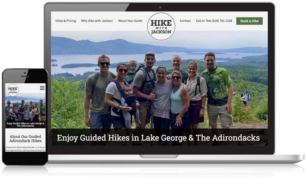 Responsive Image of Hike With Jackson's Website