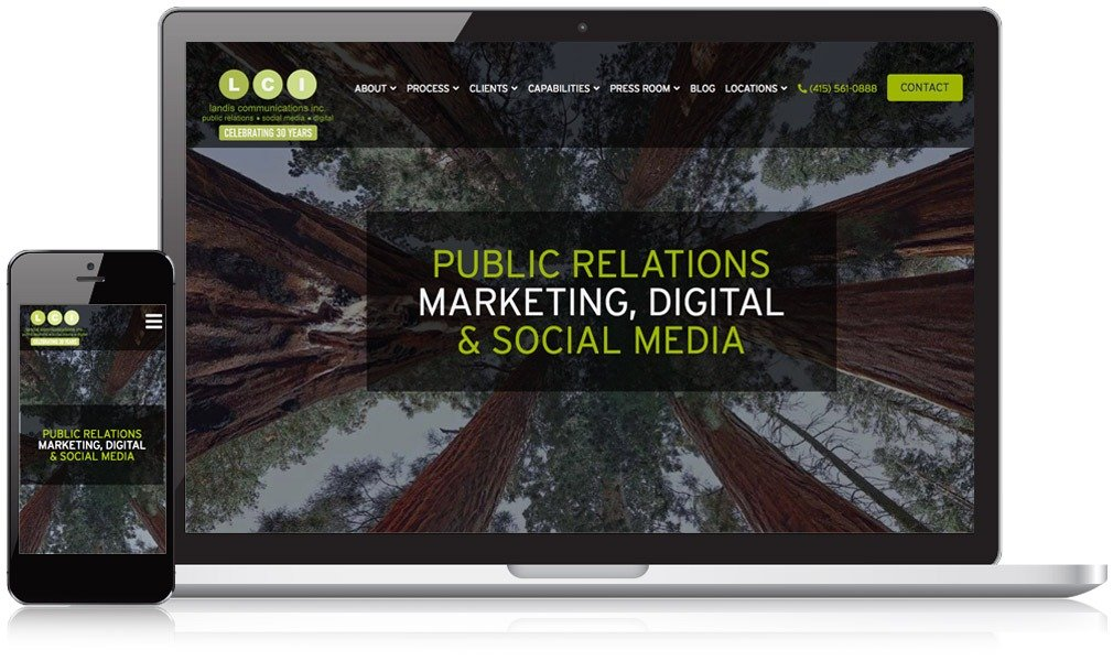 Landis Communications' Responsive Website Design image