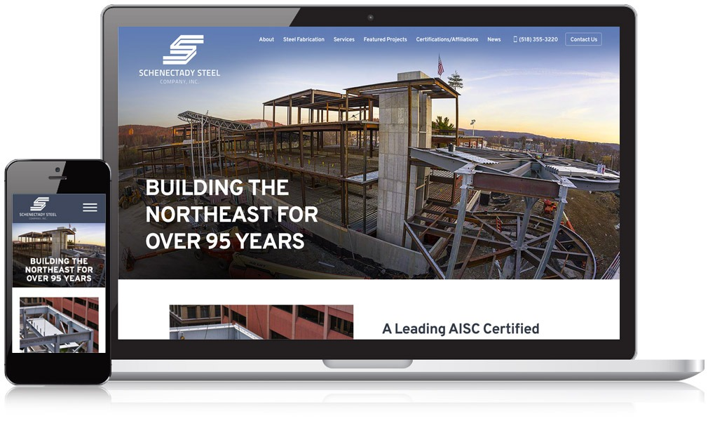 Schenctady Steel Responsive Website
