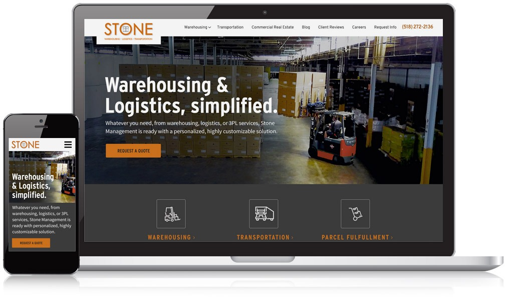 Stone Management Responsive Laptop & Mobile Image