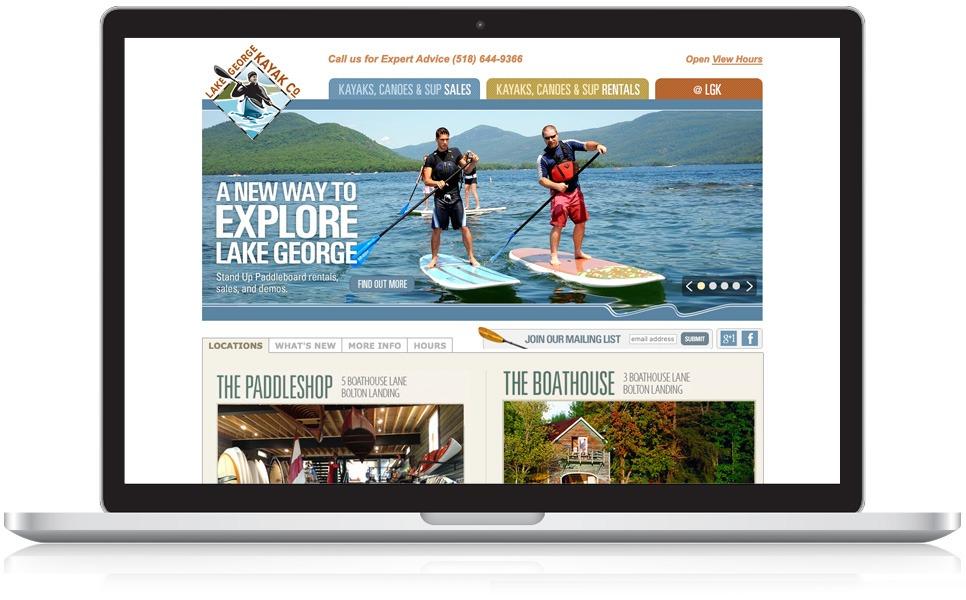 Laptop & Mobile Screens Of Lake George Kayak