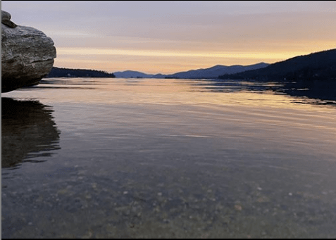 Lake George sunrise image