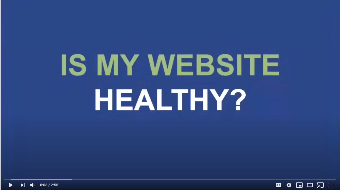 Is my website healthy - self website audit video