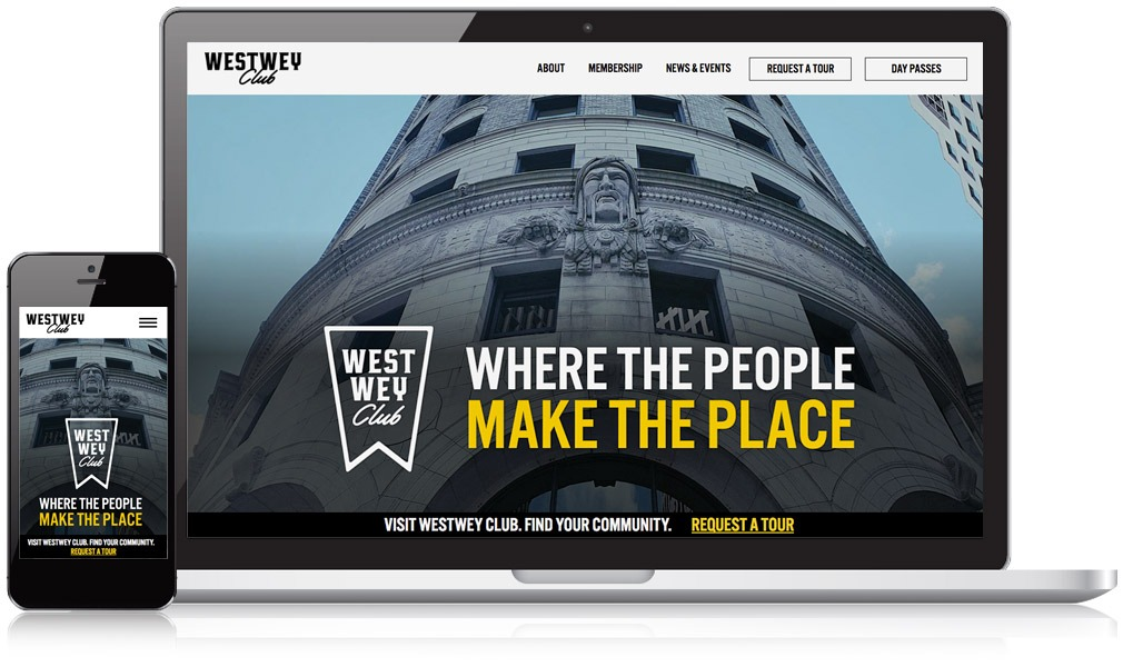 Laptop and mobile image of Westwey Club