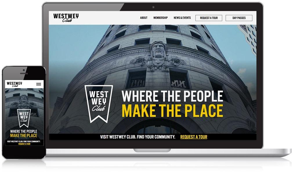 homepage of website w/ mobile phone