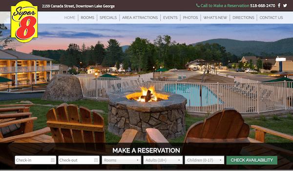 Super 8 Lake George Website