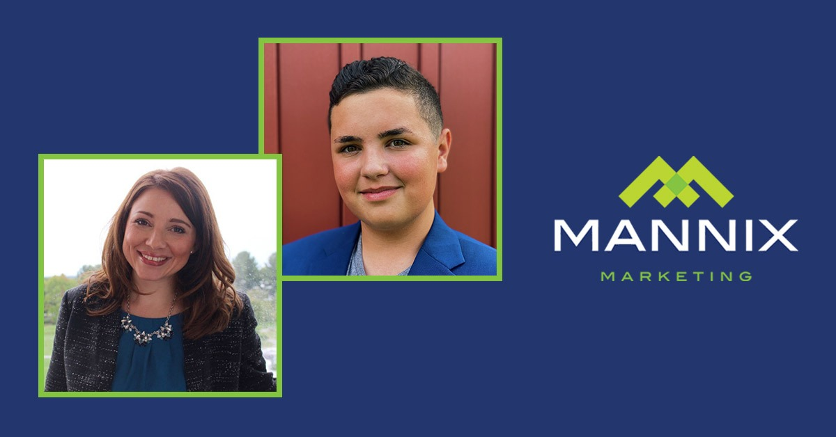 cam cardinale and pam fisher with mannix marketing logo
