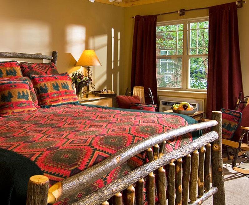 Adirondack styled hotel room