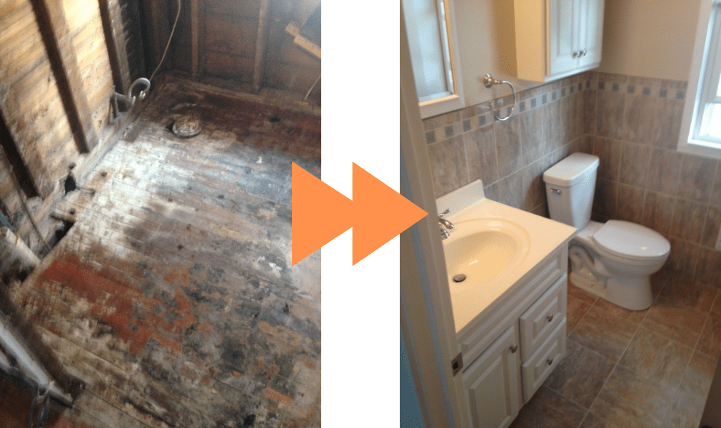 Before & After of Bathroom Renovation