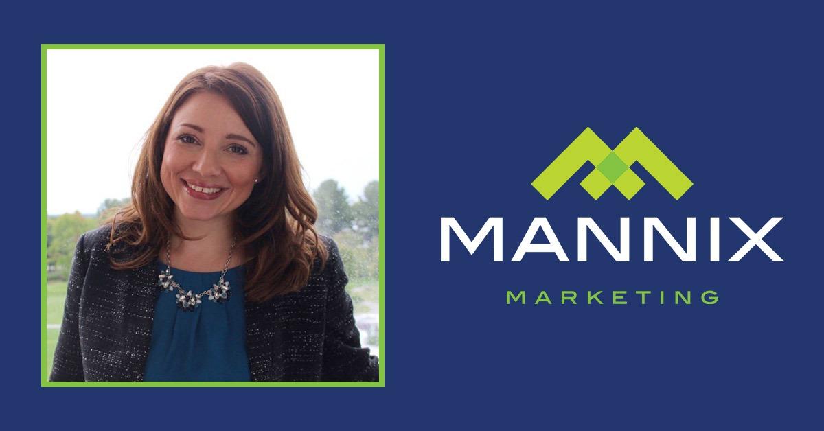 photo of pam fisher next to mannix marketing logo