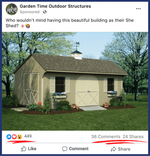 Garden Time Highly Engaged Facebook Post