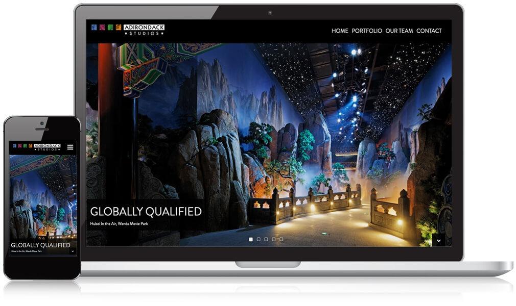 Adk Studios Mobile and Desktop homepage design
