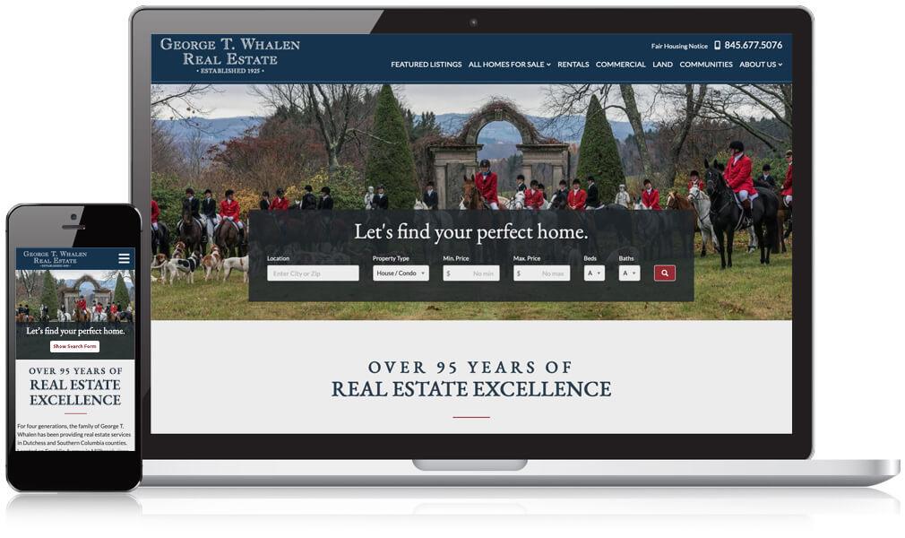 George T Whalen Real Estate website