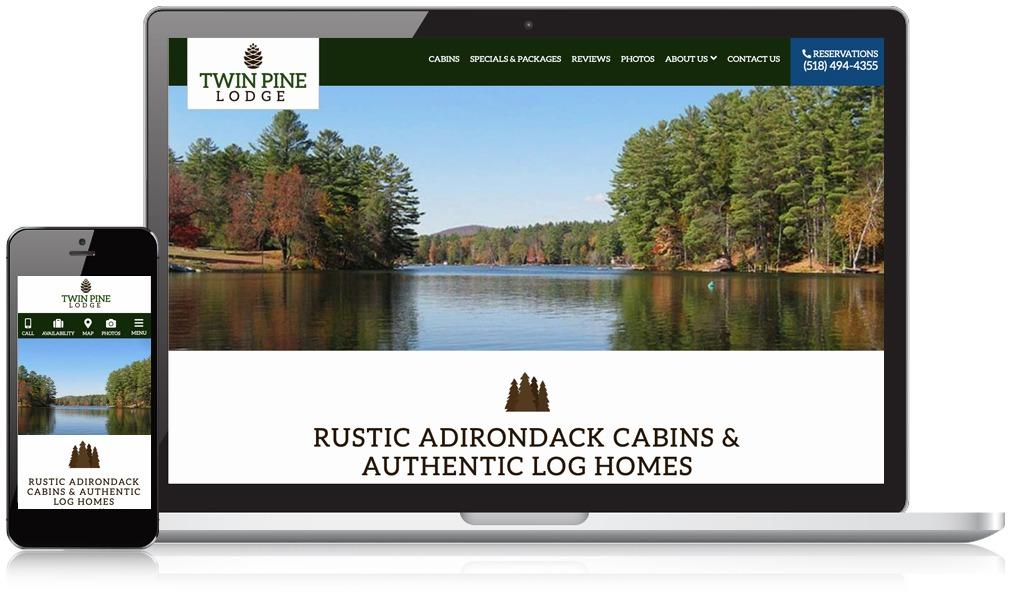 Laptop & Mobile Screens Of Twin Pine Lodge