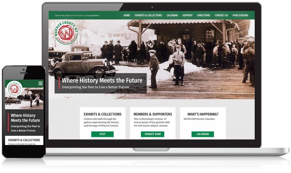 Desktop & Mobile Screens Of Warren County Historical Society